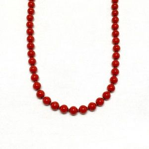 Jewelry - Vintage Red Bead Necklace